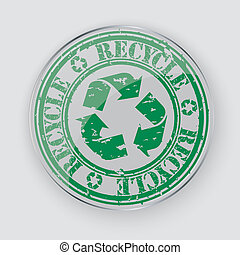 caoutchouc, verre, grunge, recycler, rue