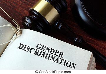 capítulo, gênero, livro, gavel., discriminação