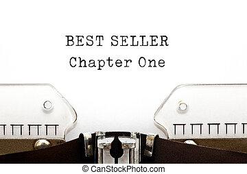 capítulo, máquina escrever, vendedor, melhor, um