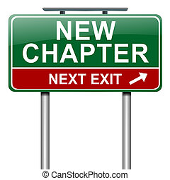 capítulo, novo, concept.