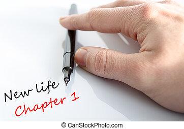 capítulo, vida, conceito, texto, 1, novo