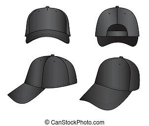Cap - Black cap isolated on white background