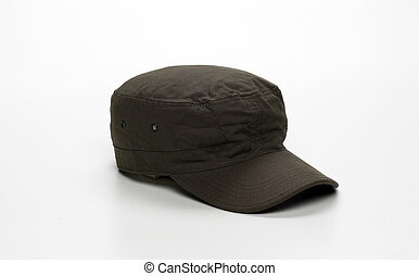 Camouflage cap isolated on a white background