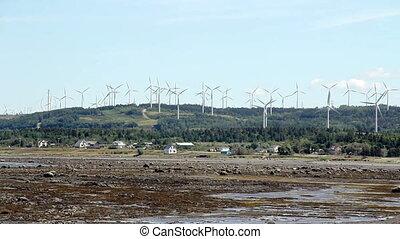 cap-chat, turbinen, hügel, wind