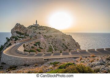 Cap de Formentor Lighthouse on the Spanish, Balearic Islands of Majorca, Mallorca