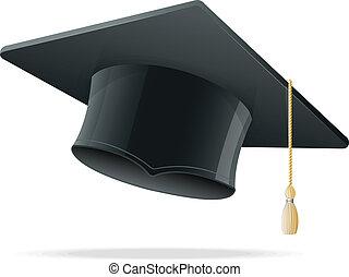 cap., education, white., remise de diplomes, tasse