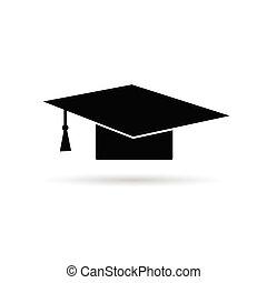 cap for graduates vector