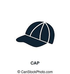 Cap icon. Flat style icon design. UI. Illustration of cap icon. Pictogram isolated on white. Ready to use in web design, apps, software, print.