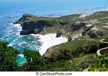 cap, point, rocks., afrique sud