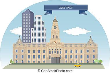 cap, république, ville, sud-africain