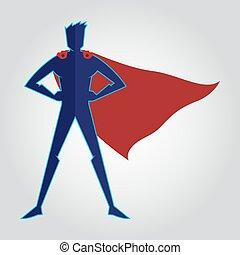 cap, sihouette, superhero