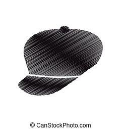 cap sport fashion element pictogram draw