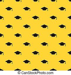 Cap student pattern vector