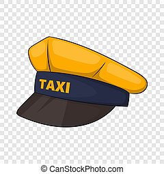 Cap taxi driver icon, cartoon style
