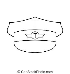 Cap taxi driver icon, outline style