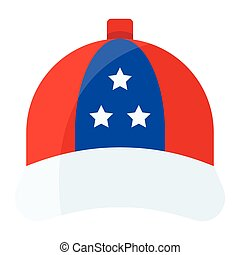 Cap vector, United state independence day related icon
