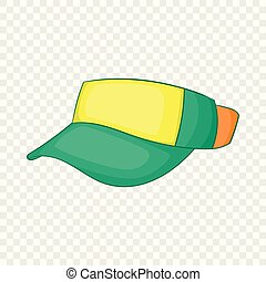 Cap without top icon, cartoon style