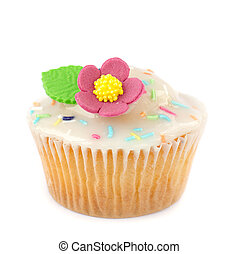 capa de azúcar glaseado, cupcake, azúcar
