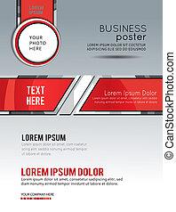 capa, empresa / negocio, resumen, template., fondo., aviador, folleto, o