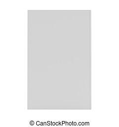 capa livro, vertical, modelo, em branco