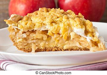 capa, pastel, merengue, manzanas