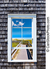 capa, ventana, bacalao, photomount, massachusetts
