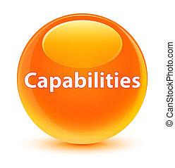 Capabilities glassy orange round button