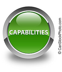 Capabilities glossy soft green round button