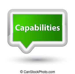 Capabilities prime green banner button
