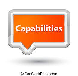 Capabilities prime orange banner button