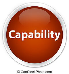 Capability premium brown round button