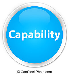 Capability premium cyan blue round button