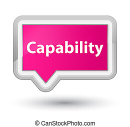 Capability prime pink banner button