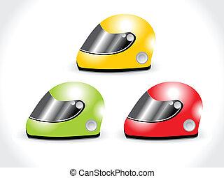 capacete, ícone, vetorial