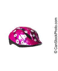 capacete, bicicleta, childrens