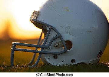 capacete, futebol americano, campo