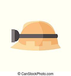 capacete, gráfico, trabalhador, ilustração, vetorial, segurança, hardhat