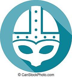 capacete, medieval, normando