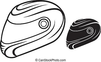 capacete, motocicleta