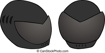 capacete, pretas, ilustração