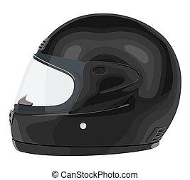 capacete, pretas, motocicleta