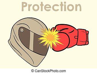 capacete, proteção