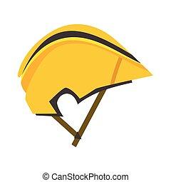 capacete, protetor, bicicleta, ilustração, choque, vetorial,...