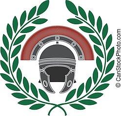 capacete, romana, grinalda