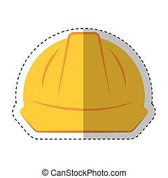 capacete, segurança, isolado, ícone