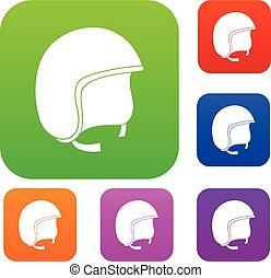 capacete segurança, jogo, cor, cobrança