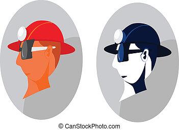 capacete, trabalhador construção