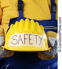 capacete, trabalhador