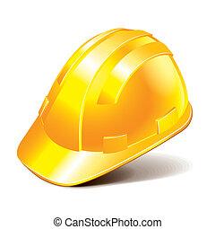 capacete, vetorial, segurança, ilustração