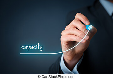 capacidade, aumento